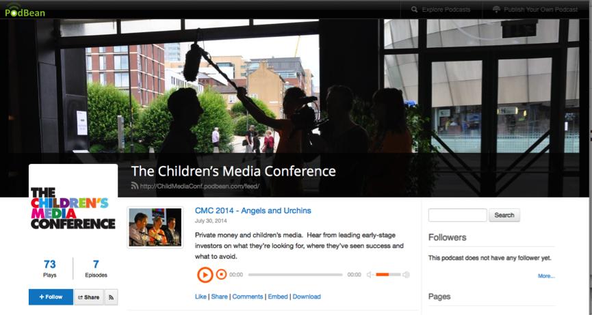 Screenshot Podbean CMC