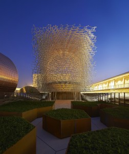 The UK's 'Beehive' pavilion in Milan